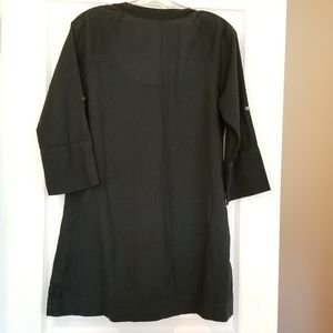 James Perse Tops - James Perse Billowy Black Cotton Tunic Top